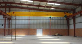 Motorized Single Beam Overhead Crane 3-15 Ton Span 7.5-31.5m With Remote Control