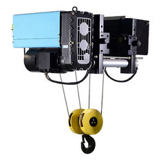 Electric Wire Rope Low Headroom Hoist , 10T 15m Heavy Duty Single Girder Hoist