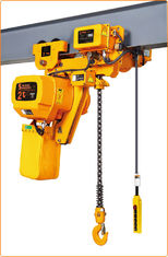 2000kg Low Headroom Chain Hoist Yellow Color Compact High Safety Performance