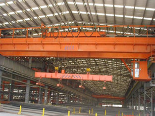 High Lifting Height Double Girder Overhead Crane With Electromagnetic Hanging Beam